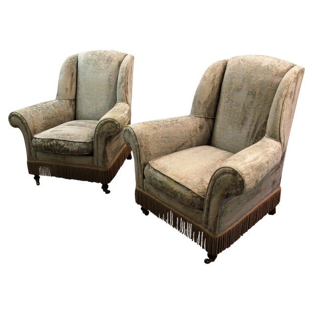 Drexel Heritage Lillian August Club Chairs - Pair - Image 1 of 11