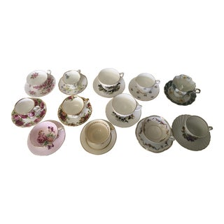 Beautiful Lot of 12 Tea Cups