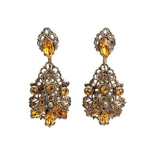 Glass Filigree Earrings