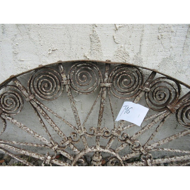 Antique Victorian Iron Garden Gate Window - Image 6 of 6