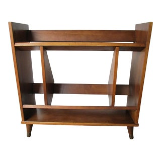Mid-Century Danish Modern Wood Bookcase