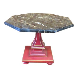 John Widdicomb Black Marble Top Side Table
