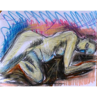 Sleeping Argentine Woman Pastel Painting