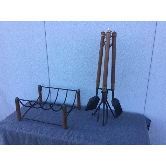 Seymour Fireplace Tools Log Holder Chairish