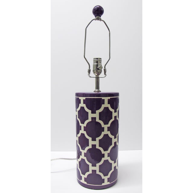 Jill Rosenwald Hampton Links Table Lamp in Purple - Image 2 of 6
