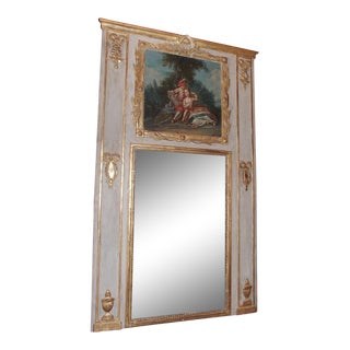 Louis XV French Painted Trumeau