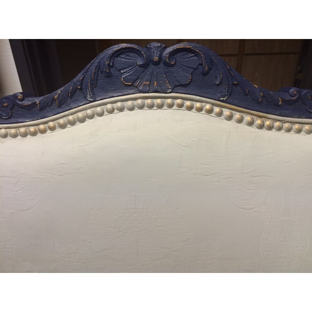 1800's Blue Distressed/Chalk Paint Settee - Image 4 of 6