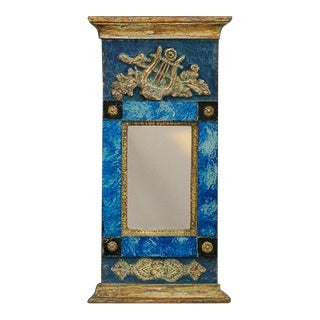 Period Swedish Mirror with Reverse Painted Glass (#51-47)