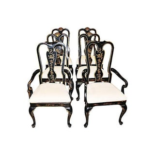 Chinoiserie Dining Chairs - Set of 6