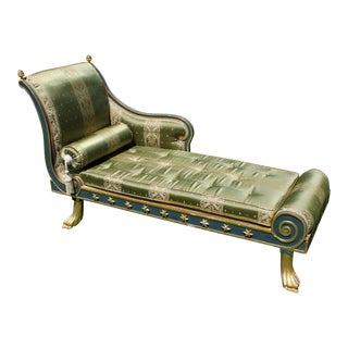 Gilded Egyptian Style Chaise