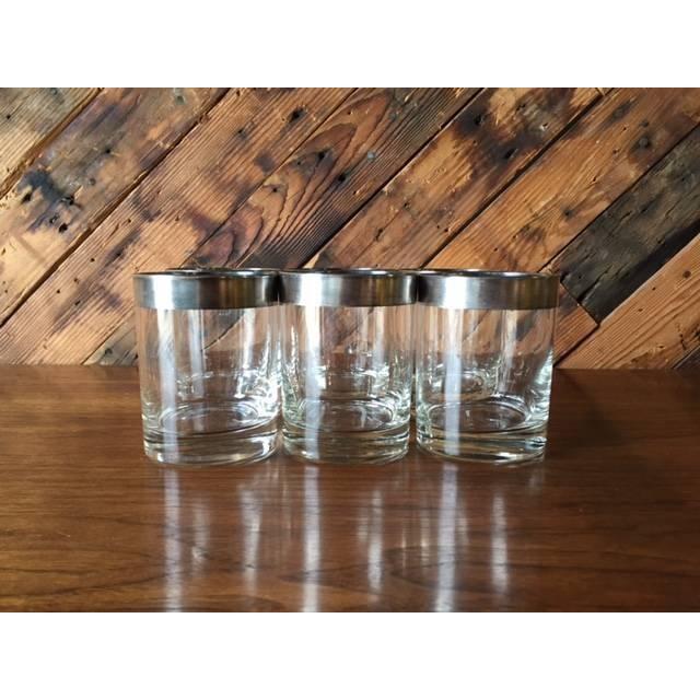 Image of Mid Century Silver Thorpe Glasses - Set of 6