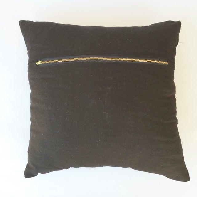 Vintage Nigerian Ashoke Cloth Pillow - Image 3 of 3