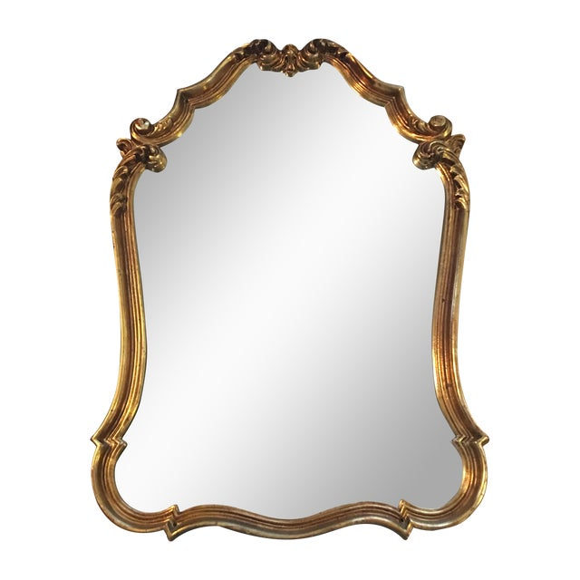 Gilded french baroque mirror chairish for Gilded baroque mirror