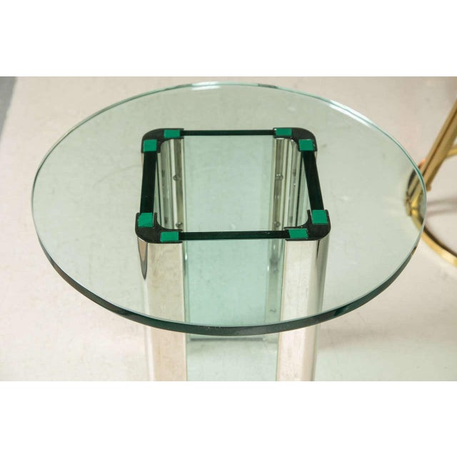 Image of Pace Chrome & Glass Side Table