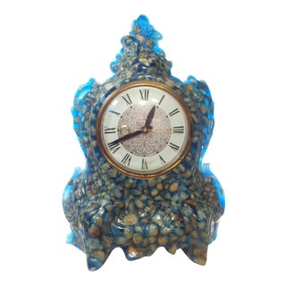 Vintage Blue Resin Lanshire Clock