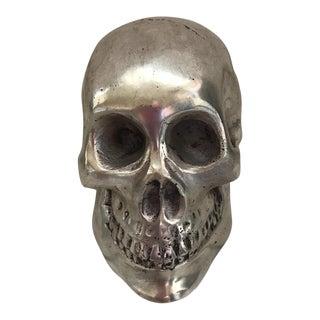 Vintage Silver Metal Skull
