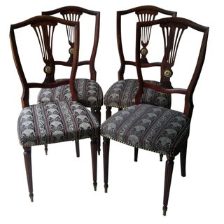 French Empire Style Dining Chairs - Set of 4