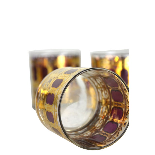 Vintage Metallic Gold Cocktail Glasses - S/4 - Image 4 of 4