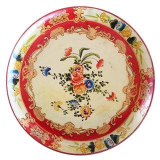 Vintage Floral Pressed Wood Tray