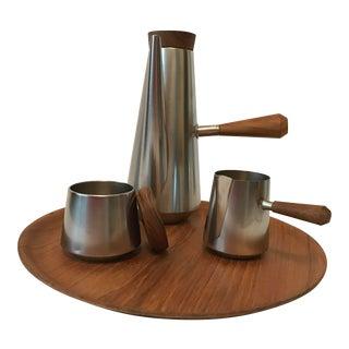 Kalmar Designs Mid-Century Modern Espresso Coffee Set- 4 Pieces