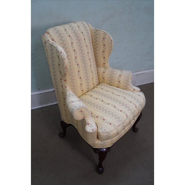 Queen Anne Style 18th Century Wing Chair - Image 10 of 10