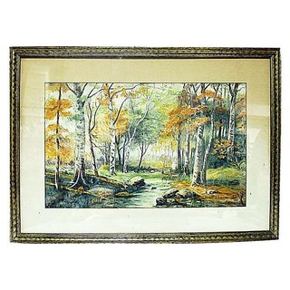 Autumnal Forest Pastel in Frame by Filcher