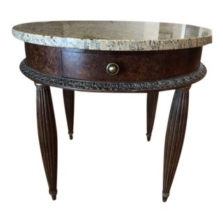 Traditional Granite Accent Table