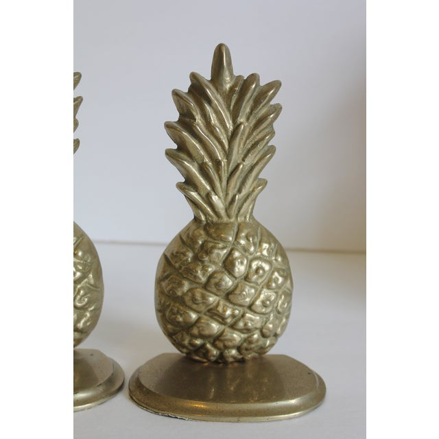 Image of Brass Pineapple Bookends - Pair