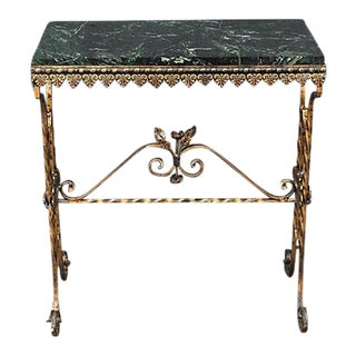 1960's Marble Top Giltmetal Console Table