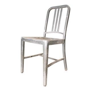 Vintage Industrial Aluminum Navy Chair