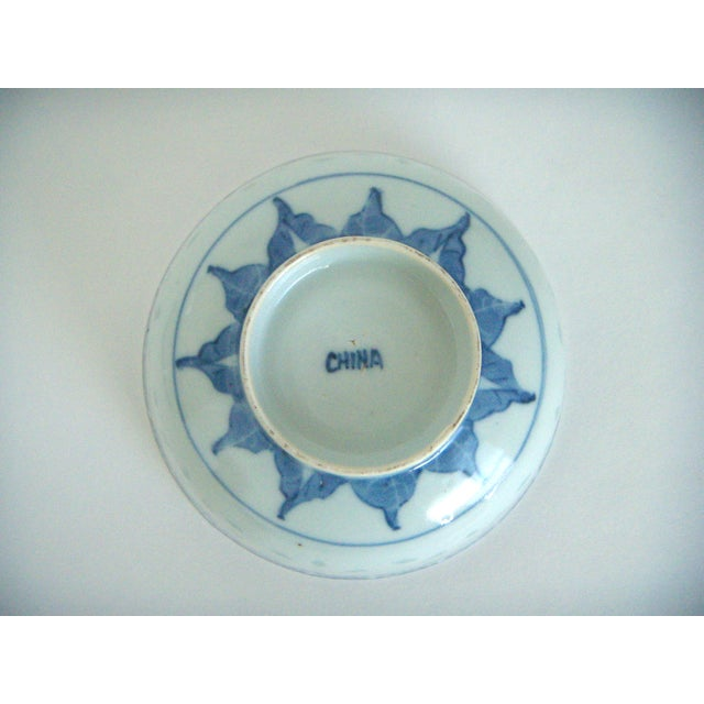 Blue & White Chinese Rice Bowl With Stand - Image 4 of 4