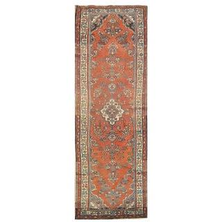 """Vintage Persian Hamedan Runner Rug - 3' x 11'6"""""""
