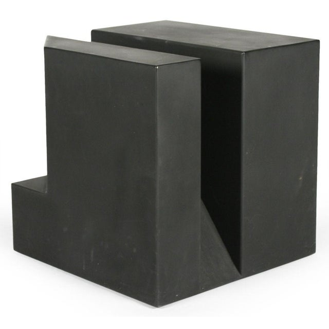 """Black Cube"" Aluminum Sculpture by Alfredo Halegua - Image 10 of 10"