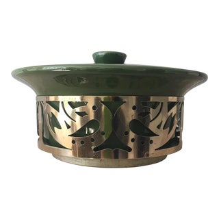 Green Covered Serving Dish