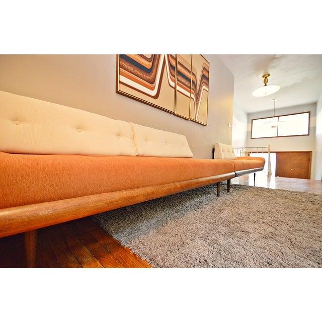Mid-Century Three-Piece Sectional Sofa - Image 8 of 10