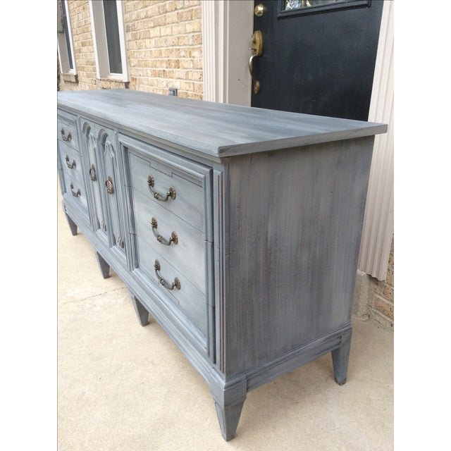 Vintage Distressed Gray Triple Dresser - Image 3 of 6