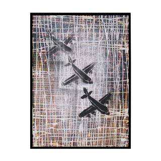 """Black Mixed Media Photograph, """"Droning On and On"""""""