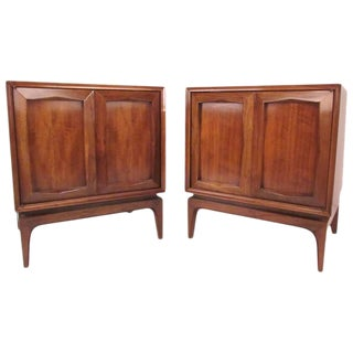 Mid-Century American Walnut Nightstands - A Pair