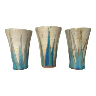 Glazed Studio Pottery Vases - Set of 3