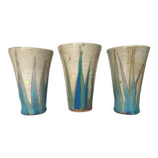 Glazed Studio Pottery Vases - Set of 3