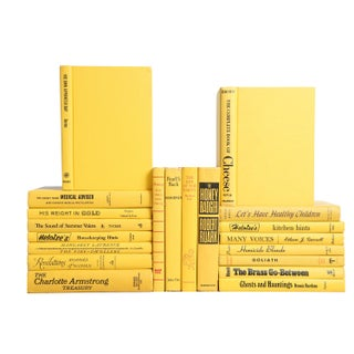 Mid Century Yellow Mixed Books - Set of 20
