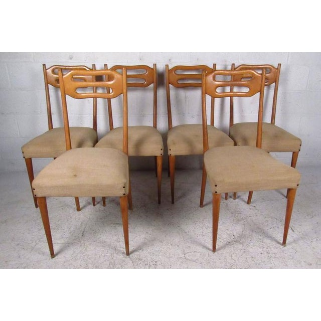 Sculptural Italian Modern Dining Chairs - Set of 6 - Image 2 of 10