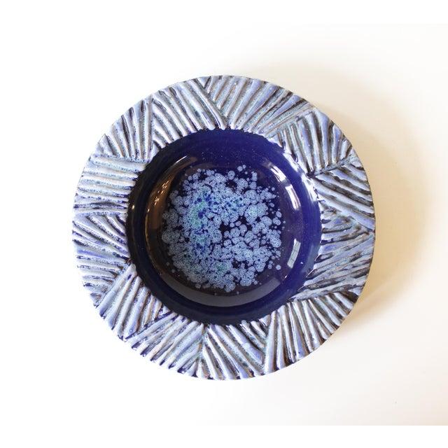 Nittsjo Sweden Blue Ceramic Pottery Bowl - Image 2 of 5