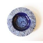 Image of Nittsjo Sweden Blue Ceramic Pottery Bowl