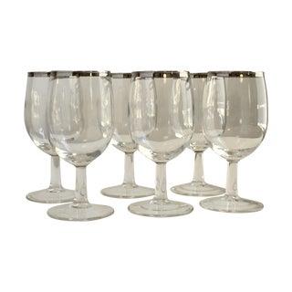 Dorothy Thorpe Silver Rim Wine Glasses - Set of 8