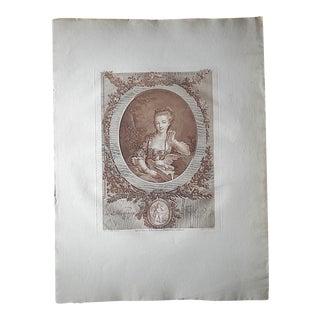 Antique Engraving, The Faithful Messenger