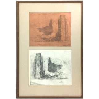Canyon Lands - Etching and Plate - by Edward Borein (1872-1945)