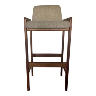 Danish Mid-Century Modern Teak Bar Stool