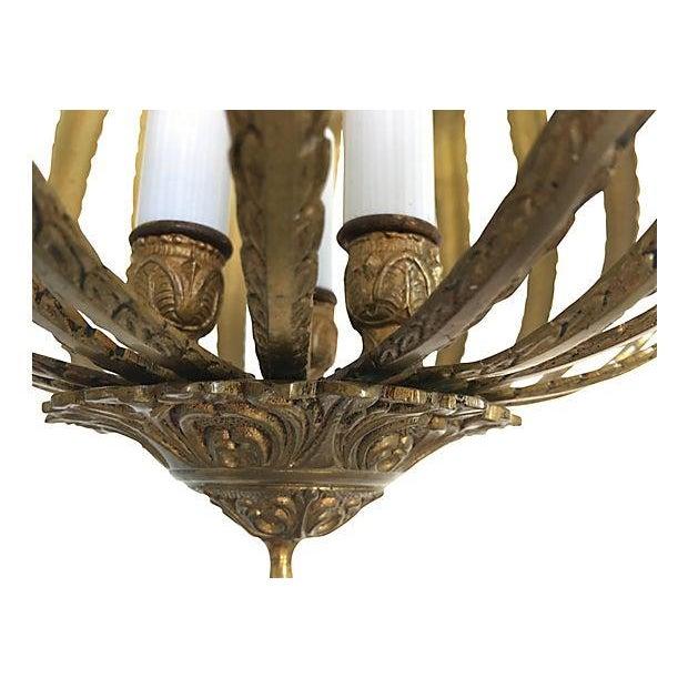 Image of Mid-Century Brass Acanthus Lantern