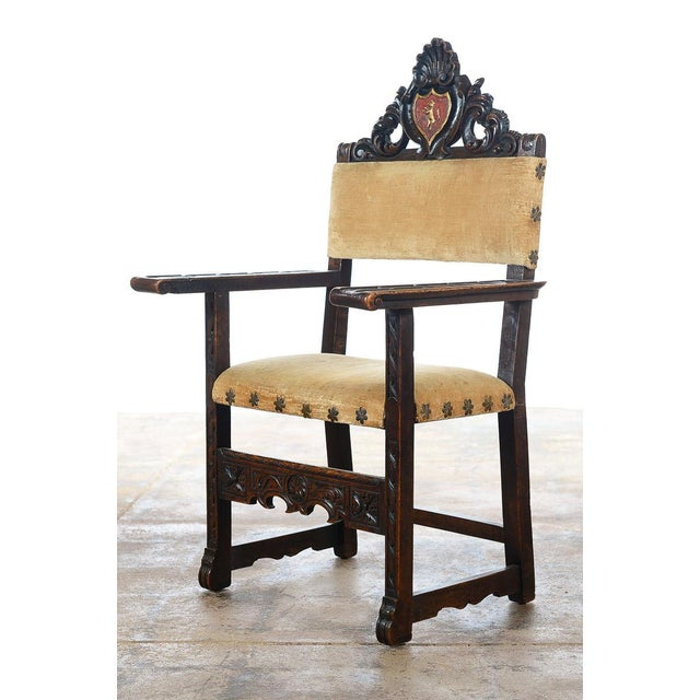 Spanish Renaissance -Carved Side Chairs -A Pair - Image 4 of 10